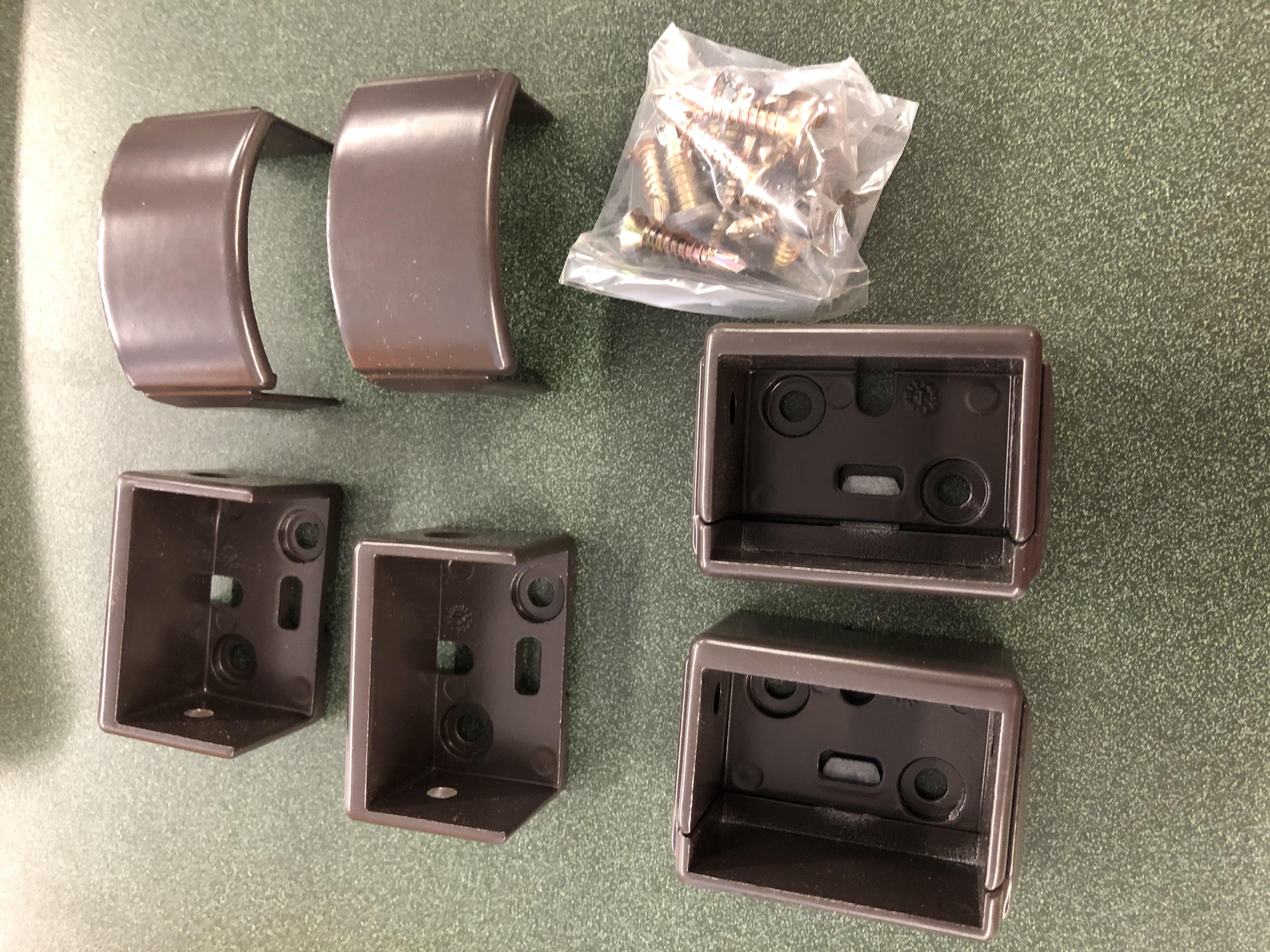 Westbury Rail C10 Tuscany CHOCOLATE Wall Mount 4 Pack 2/ Screws